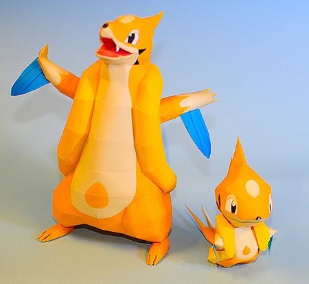 Pokemon Floatzel Papercraft