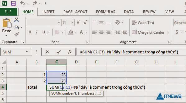 Comment-Formulas