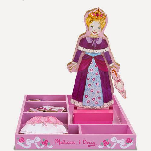 Búp bê nam châm Làm đẹp  công chúa Olivia với các mảnh phụ kiện tháo rời có gắn nam châm