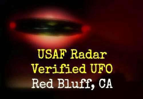 Usaf Radar Verified Ufo Red Bluff Ca