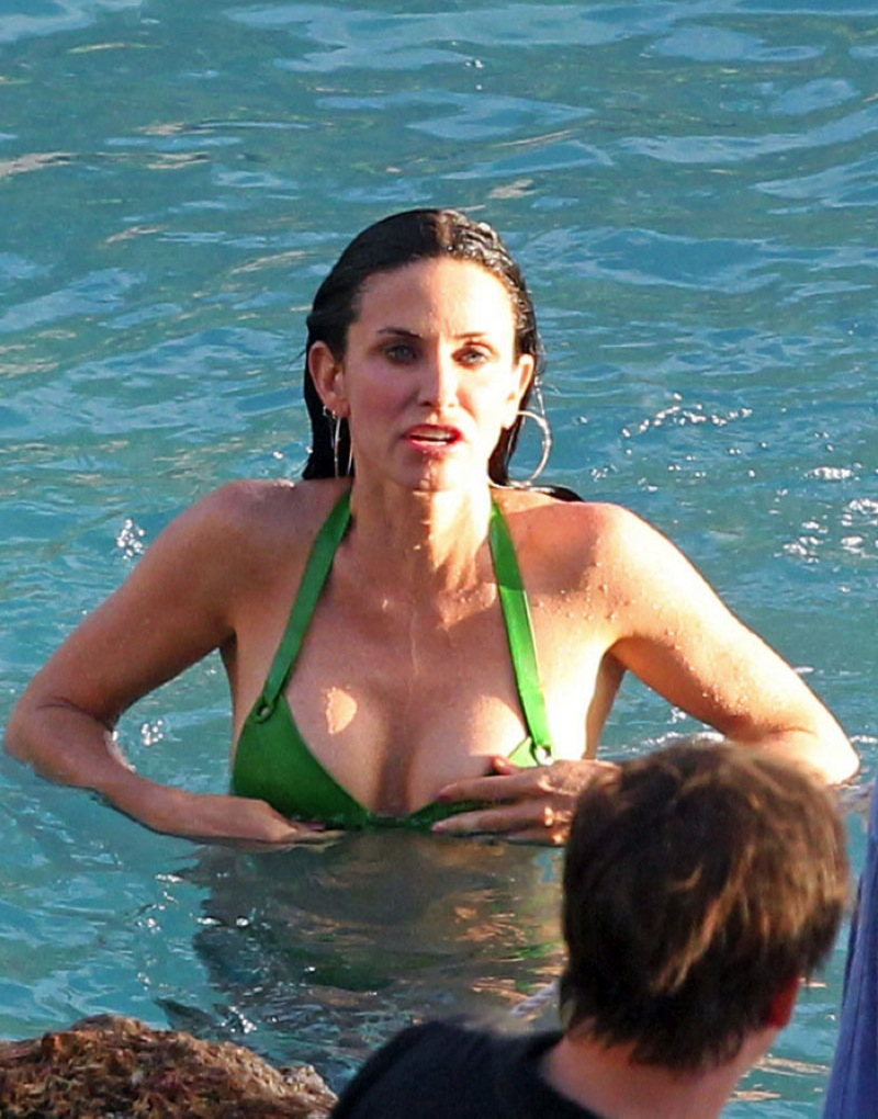 Courteney Cox In A Bikini With Bigger And Better Boobs Gutteruncensored Com