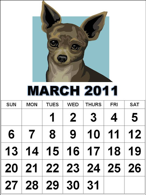 march calendar printable 2011. Cute March 2011 Calendar