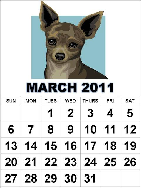 calendar 2011 march template. Cute March 2011 Calendar