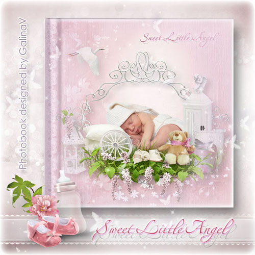 Photoalbum for New Born Baby Girl - Sweet Little Angel