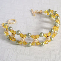 Sunny Crystal Bracelet by MagsBeadsCreation