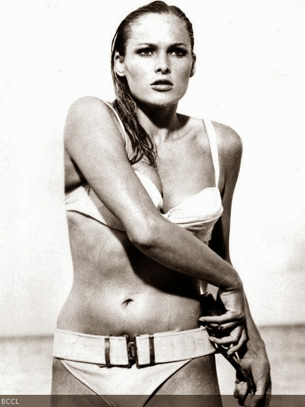 Ursula Andress: Ursula Andress in 1962's Dr. No is still considered the ultimate bikini girl. If the sexy Ursula Andress were in her prime right now, she would have given many babes a run for thie money.