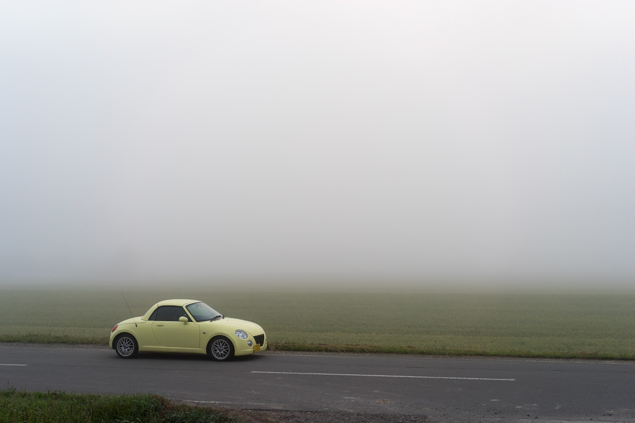朝靄に包まれて