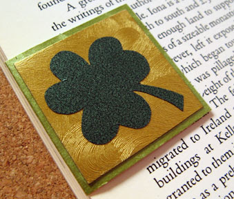 shamrock bookmark photo