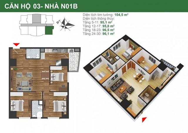 Mặt bằng căn hộ 3