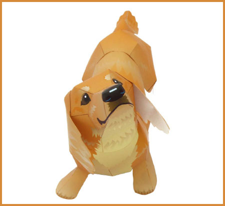 Dachshund Papercraft Regular Size