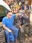 Me at the Hunting store, hitting on the mannequin