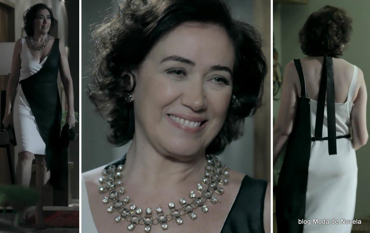 a melhor imagem da moda da novela Império, look da Maria Marta dia 10 de outubro
