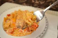 Creamy Sausage and Mushroom Bow Tie Pasta Skillet