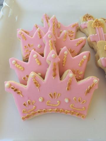 Custom Cookies Cupcakes And Cake Pink And Gold Princess