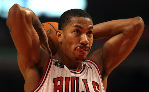derrick rose dunks on pacers. derrick rose dunk pictures.