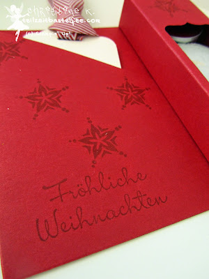 Stampin' Up! Weihnachten, Christmas, Teelicht-Karte, Tealight-Card, Stanze gewellter Anhänger, Punch Scalloped Tag Topper, Framelits Chalk Talk