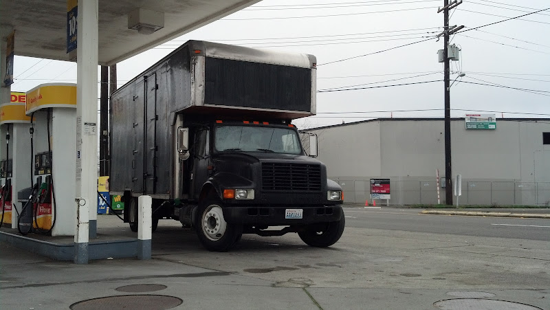 91 International 4700 Box Truck Cnvrtd To Toterhome Car Hauler Rv Reg Pirate4x4 Com 4x4 And