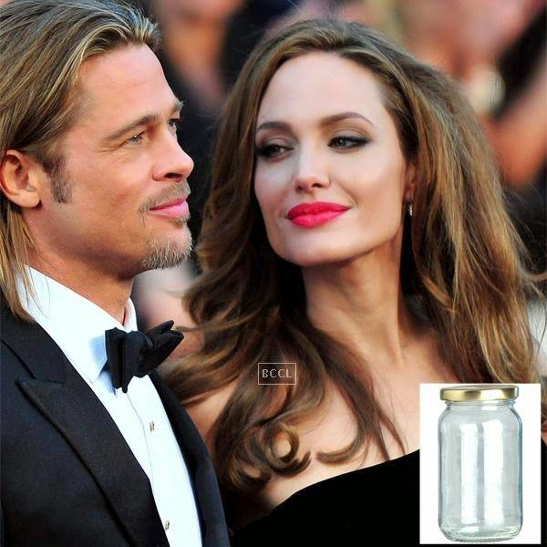 Reportedly, a jar filled of Angelina and Brad Pitt's breath was put to auction.