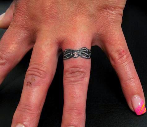 50 Best Wedding Ring Tattoos Designs and Ideas (2017) - DesignATattoo
