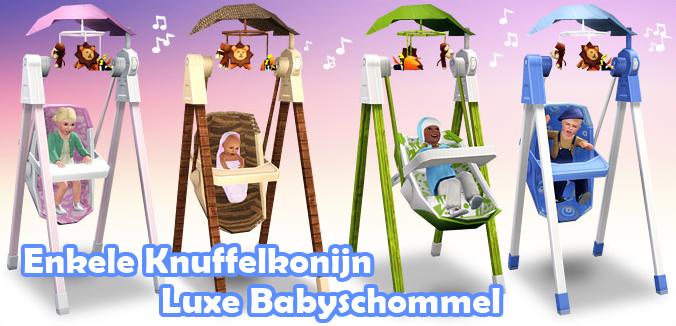 Enkele Knuffelkonijn Luxe Babyschommel