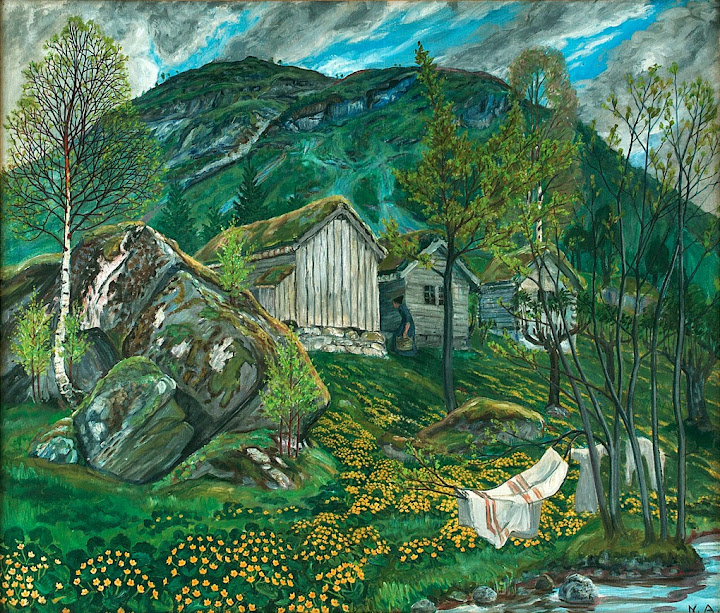Nikolai Astrup - Spring Mood by Old Cotter's Farm