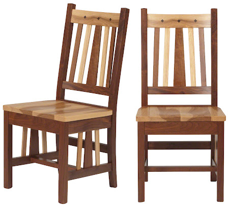Eastern Chair in Mixed Wood  Natural Hickory and Walnut. Eastern Dining Chair   Dining Room Chair in the Eastern Style