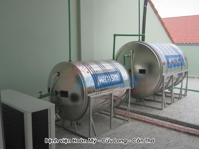 hệ thống nước nóng năng lượng mặt trời MEGASUN tấm thu nhiệt tấm phẳng công suất 5,000 lít