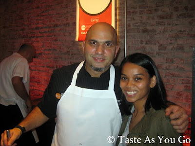 With Chef Michael Psilakis at the KEFI Booth at Meatball Madness at the Food Network New York City Wine & Food Festival - Photo by Taste As You Go