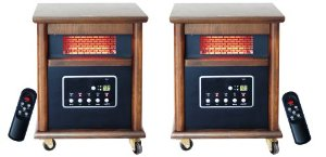 Lifesmart Zone Pack 2 4 Element 1200 Square Foot Infrared Heaters w/Remote
