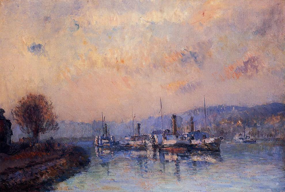 Albert Lebourg - At Anchor, near Rouen
