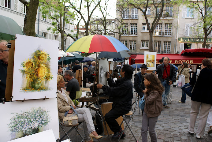 Place du Tertre, Монмартр - Туристический маршрут по Монмартру в Париже c картой и отмеченными достопримечательностями.