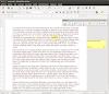 Barra de herramientas para el control de cambios en LibreOffice