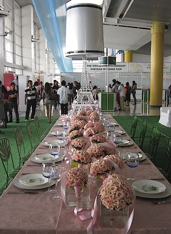 sample table setup at the Philippine Wedding Summit