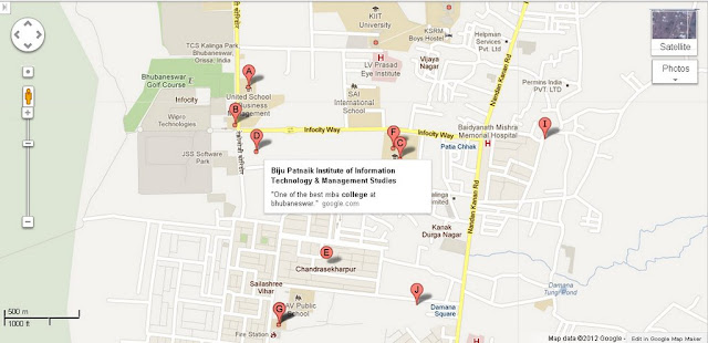 Biju Patnaik Institute Of Information Technology and Management Studies Bhubaneswar Area Map