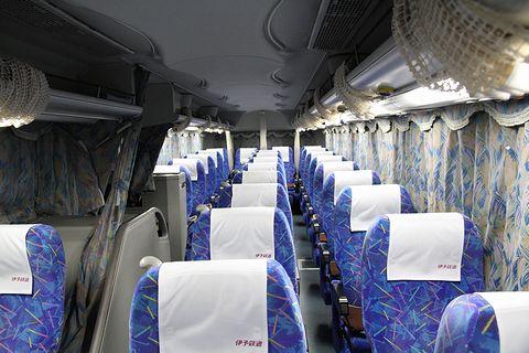 伊予鉄道「オレンジライナーえひめ号」 5253 車内