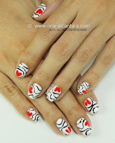 Accidental Love Nail Art by Simply Rins