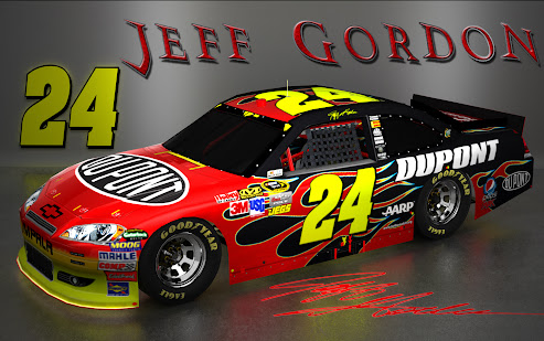 Jeff Gordon NASCAR Signature Wallpaper