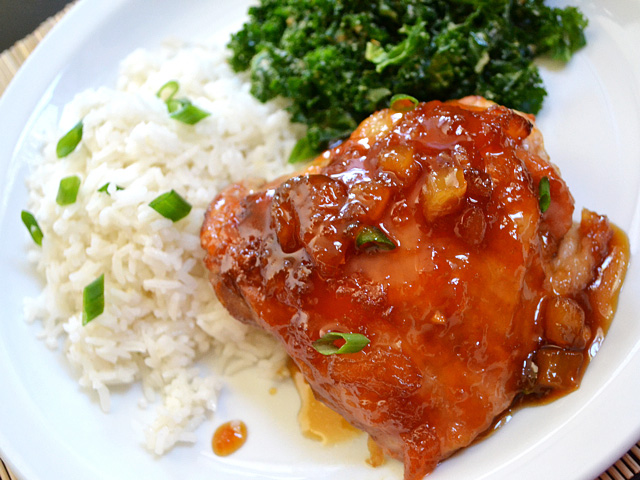 pineapple teriyaki chicken meal