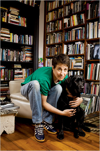 Rachel Maddow and her dog