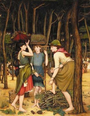 John Roddam Spencer Stanhope - Pine Woods at Viareggio