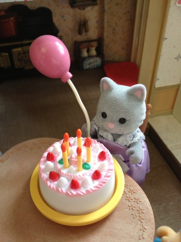 Sylvanian Families Simpkin Cat Birthday Party Cake