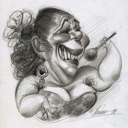 caricatura de la Pantoja