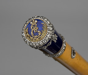Walking- stick with monogram. St. Petersburg, c. 1780.