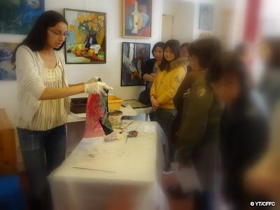 Portes ouvertes des AAB 2014 : atelier de batik proposé par May Briard