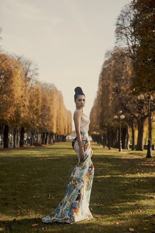Quách An An kiêu sa giữa mùa thu Paris