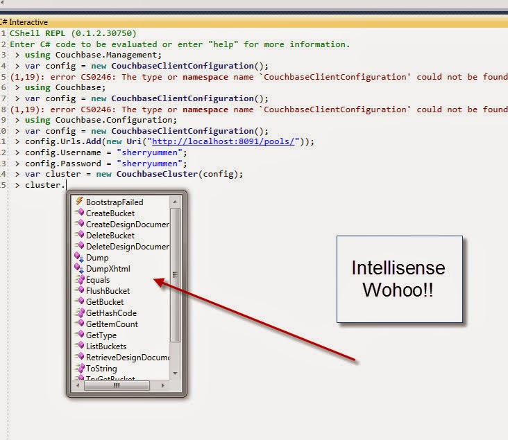CShell Intellisense