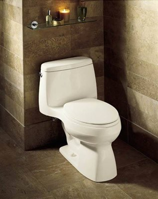 the kohler one piece toilets such as the gabrielle santa rosa and san martine have some models that arenu0027t too bad using a standard fill valve and a