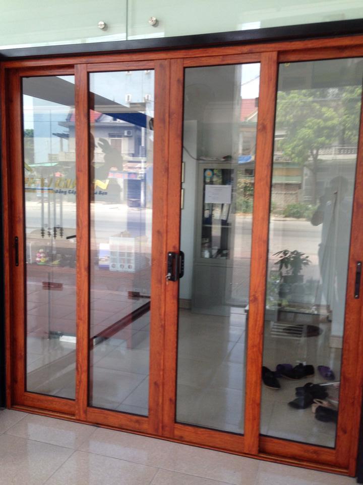 Hệ cửa nhôm xingfa vân gỗ