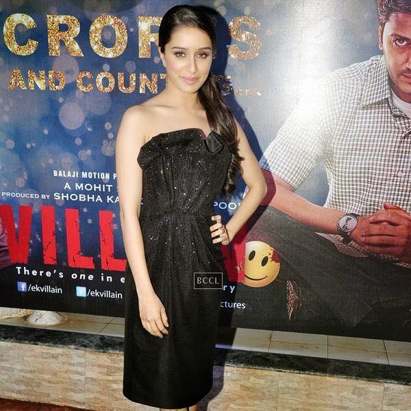 Shraddha Kapoor sizzles in black during the success party of Bollywood movie 'Ek Villain', held at Ekta Kapoor's residence on July 15, 2014.(Pic: Viral Bhayani)