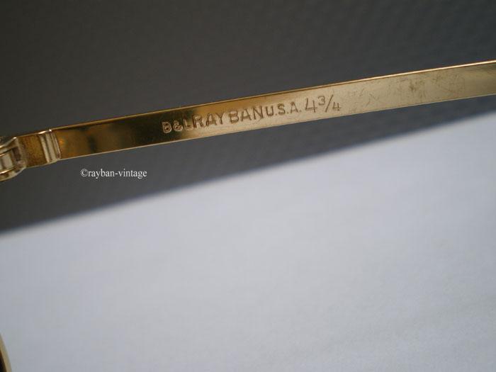 Marquage b&l RAY BAN usa 4 3/4 sur la branche